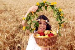 Girl celebrating Shavuot